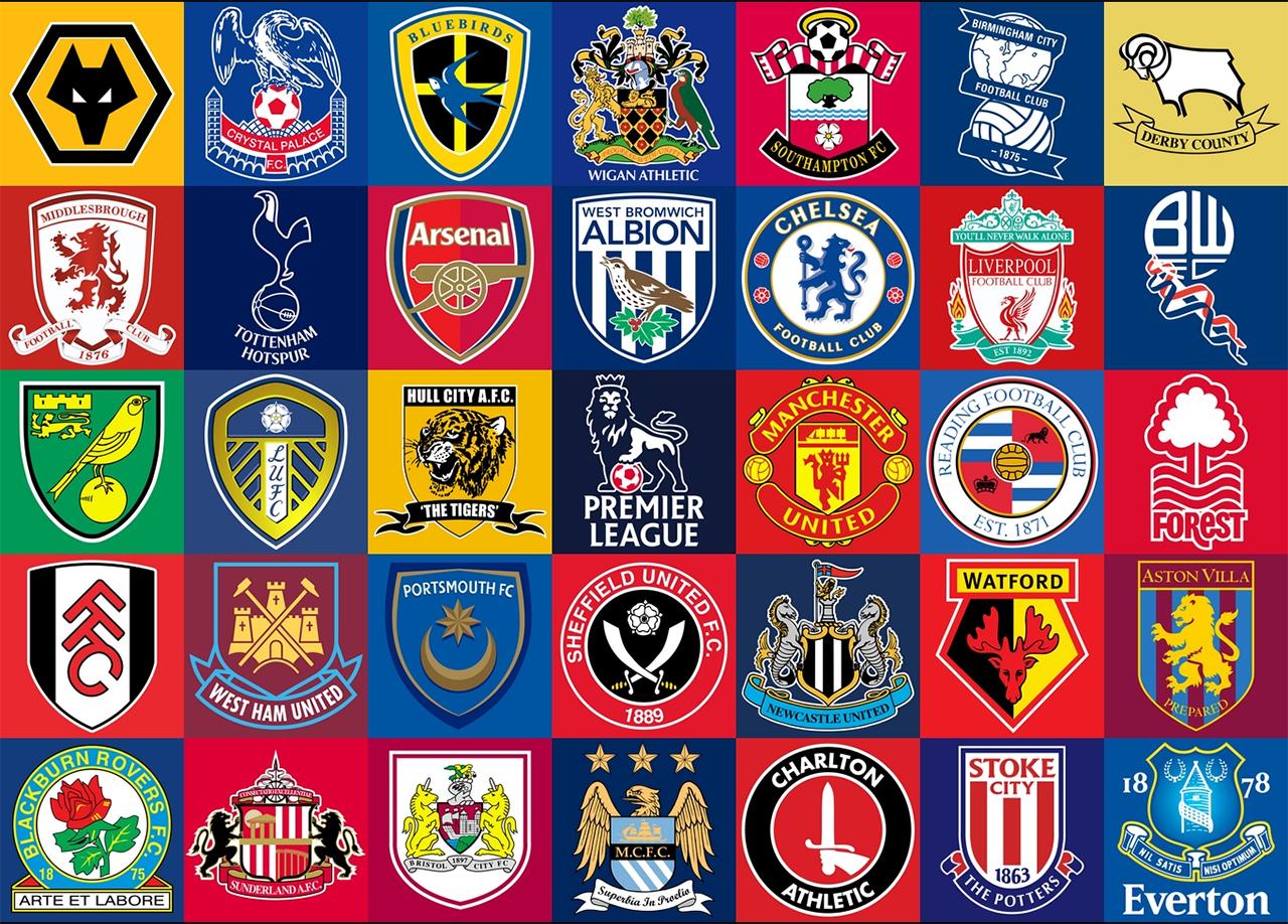 British Premier League Team Logos