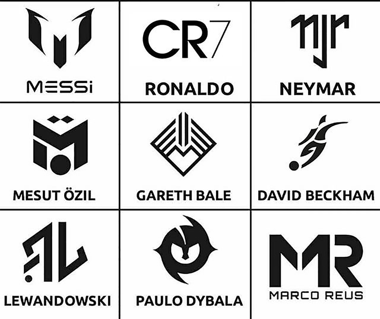 Today's Superstar Soccer Players Have Logos Too